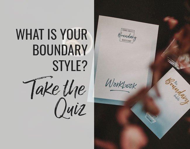 boundary style quiz