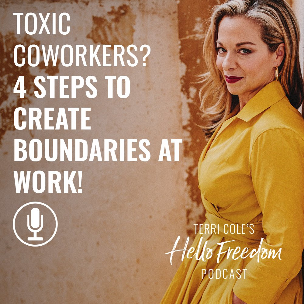 Toxic Coworkers? 4 Simple Steps to Create Protective Boundaries + Thrive on Hello Freedom with Terri Cole