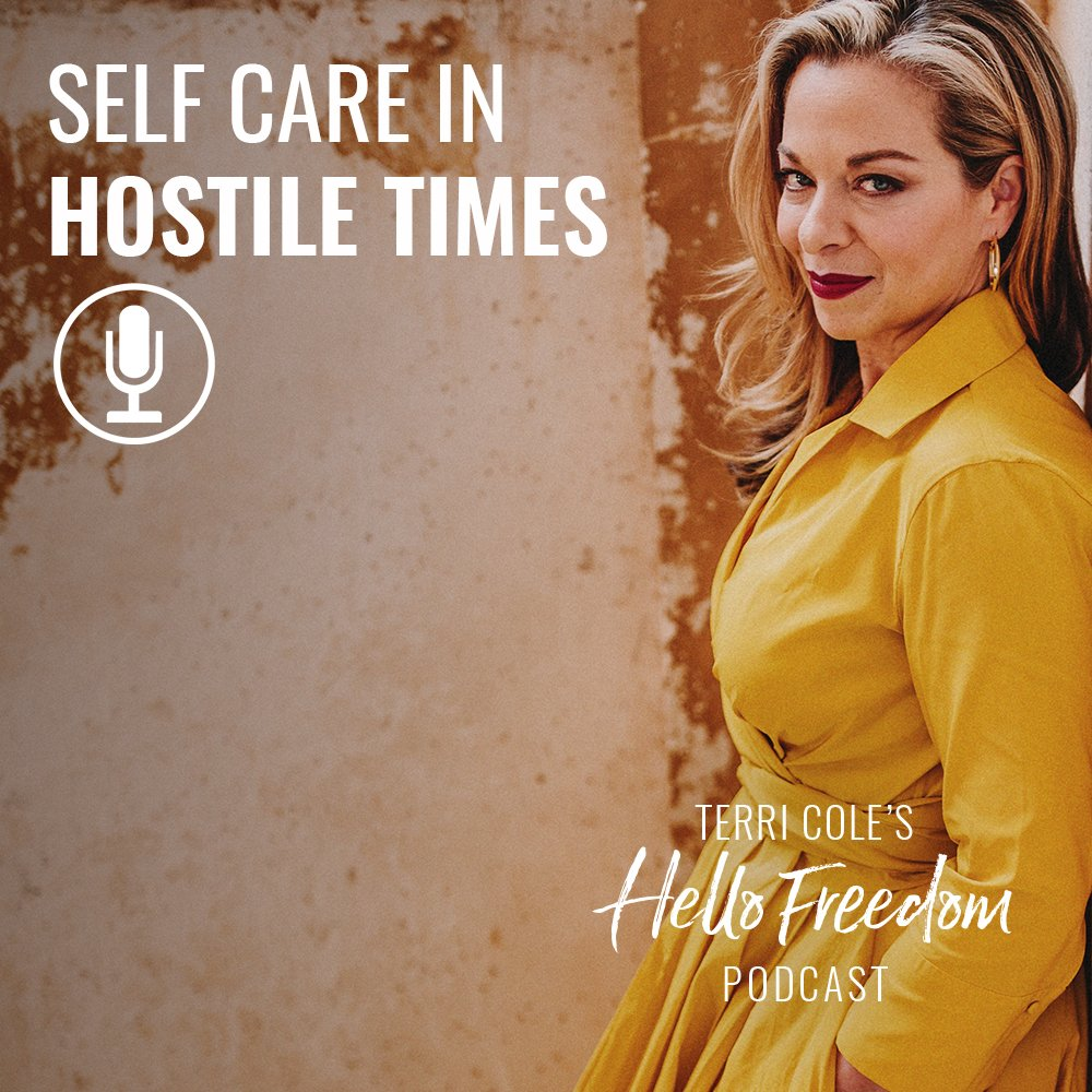 Self Care in Hostile Times on Hello Freedom with Terri Cole